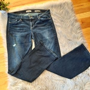 Guess Dark Wash Low Rise Boot Jeans